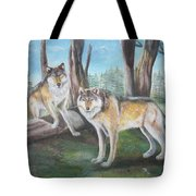 Wolves In The Forest Tote Bag