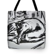 Woman Alone With Shadows Tote Bag