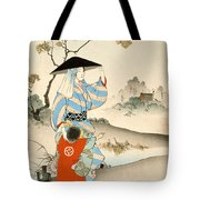 Woman And Child  Tote Bag by Ogata Gekko
