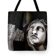 Woman And Cross Tote Bag