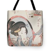 Woman At Her Mirror Tote Bag
