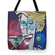 Woman At Martini Bar Tote Bag