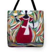 Woman Carrying Pineapple  Tote Bag