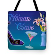 Woman Cave With Stargazers Tote Bag