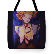 Woman Coming Undone Tote Bag