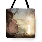 Woman Exhalation Tote Bag