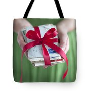 Woman Holding A Bundle Of Love Letters Tote Bag