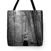 Woman In A Forrest Tote Bag