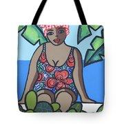 Woman In Bathing Suit 4 Tote Bag