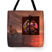 Woman In Contemplation Nude Tote Bag