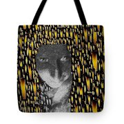 Woman In Flames Tote Bag
