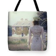Woman In Front Of A Manor Tote Bag by Joana Kruse
