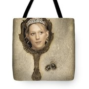 Woman In Mirror Tote Bag
