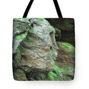 Woman In Rock Tote Bag