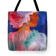 Woman In Turban Tote Bag