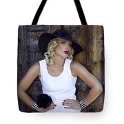 Woman In White Palm Springs Tote Bag