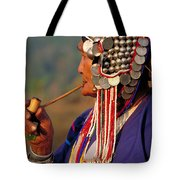 Akha Hill Tribe Woman  Thailand Tote Bag