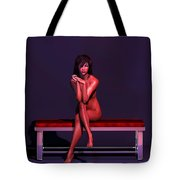 Woman On Couch... Tote Bag