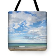 Woman On Manly Beach In Sydney Australia Tote Bag