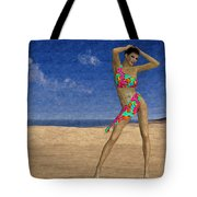 Woman On The Beach... Tote Bag
