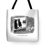 Woman On The Phone Tote Bag
