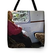 Woman On Train - Budapest Tote Bag
