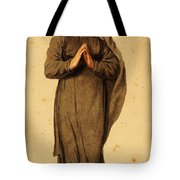 Woman Praying Tote Bag