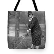 Woman Ready To Play Golf Tote Bag
