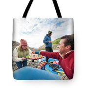 Woman Serving Appetizers, Alsek River Tote Bag