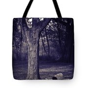Woman Under A Tree Tote Bag