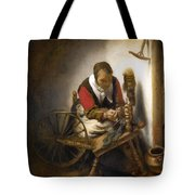 Woman Spinning Tote Bag