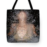 Woman Splashing Water Tote Bag
