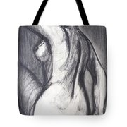 Woman Turning Her Back - Female Nude Tote Bag