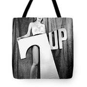 Woman With 7 Up Logo Tote Bag