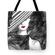 Woman With A Hat Tote Bag
