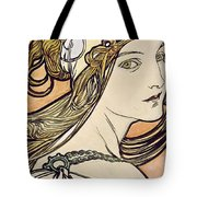 Woman With A Headscarf Tote Bag
