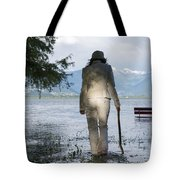 Woman With A Stick Tote Bag