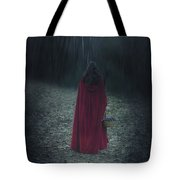 Woman With Basket Tote Bag