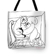 Woman With Cat Tote Bag