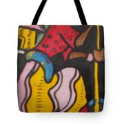 Woman With Head Tie And Bangles On Her Wrist Stirring The Wheat Corn On A Bowl Tote Bag
