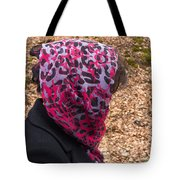 Woman With Headscarf In The Forest - Quirky And Surreal Tote Bag