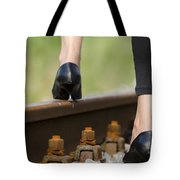 Woman With High Heels Shoes Tote Bag