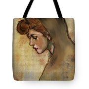 Woman With Hood Tote Bag