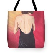 Woman With Towel Tote Bag