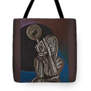 Woman With Trumpet Tote Bag