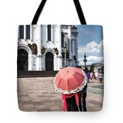 Woman With Umbrella - Moscow - Russia Tote Bag