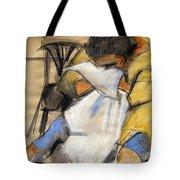 Woman With White Towel - Helene #9 - Figure Series Tote Bag