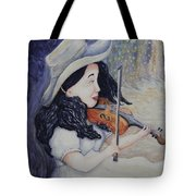 Woman's Autumnal Twilight Serenade Tote Bag