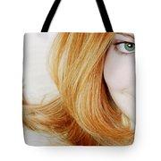Womans Face Tote Bag
