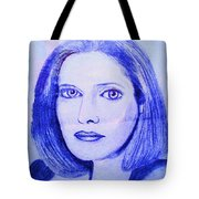 Womans Portrait  Tote Bag